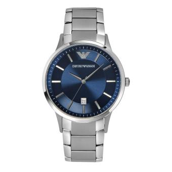 Harga Emporio Armani Watch Quartz Silver Stainless-Steel Case Stainless-Steel Bracelet Mens Swiss NWT + Warranty AR2477