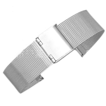 Harga Premium Stainless Steel Milanese Loop Watch Band Replacement Wrist Strap Bracelet for CK Citizen Longines 20mm Silver