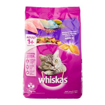 Harga Whiskas Mackerel Dry Food for Cat - 1 x 1.2 kg