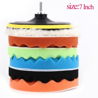 Harga Beau 8pcs/set WY-3804-77 Inch Car Vehicle Cleaning Polishing Pad Set - intl
