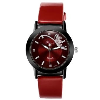 Girl Kids Student Cute Leather quartz Wrist Watches - intl. Fashion Classic .