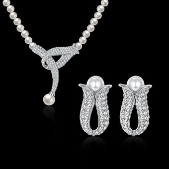 Harga Watches Sunglasses Jewellery Jewellery Sets Awesome Jewelry Set A S036 Necklace Eardrop 2 Suit Accessories Wholesaler - Intl