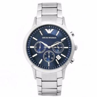Harga Emporio Armani Chronograph Men's Silver Stainless Steel Bracelet Watch AR2448