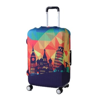 Harga Elastic Suitcase Protector Cover (geometric graph, L)(Export)