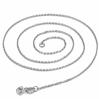 Harga 925 Sterling Silver O-Ring Style Necklace Chain