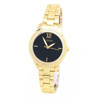 Harga Citizen Watch QUARTZ Gold Stainless-Steel Case Stainless-Steel Bracelet Ladies Japan NWT + Warranty EL3082-55E