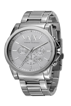 Harga Armani Exchange Chronograph Men's Silver Stainless Steel Strap Watch AX2058