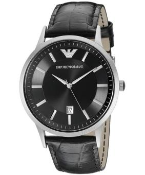 Harga Emporio Classic Quartz Men's Black Leather Strap Watch AR2411