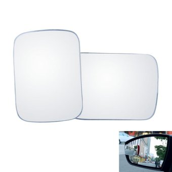 Harga oxoqo KOBWA Blind Spot Mirrors, 360° Rotate Stick-on Adjustable Blind Spot Mirrors Square-shaped HD Frameless Glass Convex Wide Angle Rear View Mirrors -2 Pack - intl
