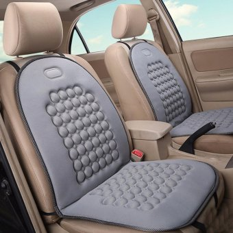 Grey Car Seat Cushion Therapy Massage Padded Bubble Foam Chair Seat Pad Cover - intl