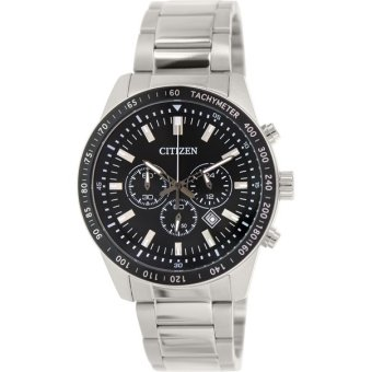 Harga Citizen Men Stainless Steel Chronograph Tachymeter With Date Watch AN8070-53E