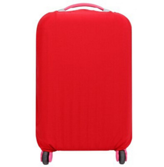 Harga Hanyu Solid Elasticity Luggage Protective Suitcase Covers L(Red) - intl