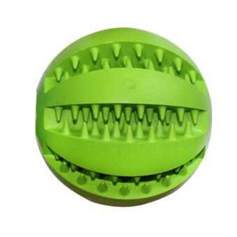 Harga LT365 Rubber Ball Toy Interactive IQ Treat Drain Leakage Food and Dental Chew Dog Toy - Green - intl