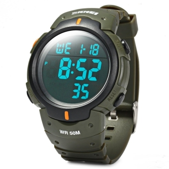 Harga Skmei 1068 Military Army LED Watch Water Resistant (Army Green)