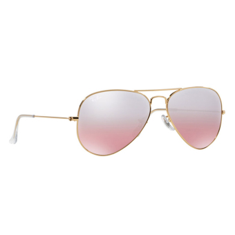 Harga RAY-BAN AVIATOR LARGE METAL CRYS.BROWN-PINK SILVER MIRROR Lenses RB3025 001/3E MAN SUNGLASS