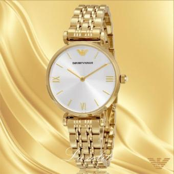 Harga Emporio Armani Women's AR1877 Classic Analog Display Analog Quartz Gold-Tone Watch