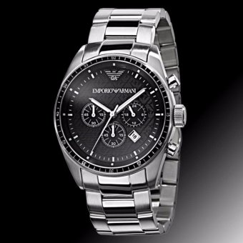 Harga Emporio Armani Sportivo Men's Stainless Steel Strap Watch AR0585