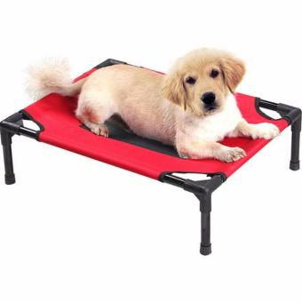 Harga ELEVATED PET COT / BED FRAME WITH NET XL Blue
