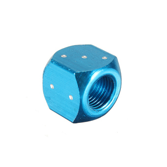 Harga 2 x Blue Car Moto Motorcycle Metal Dice Tyre Tire Stem Valve Dust Cap New