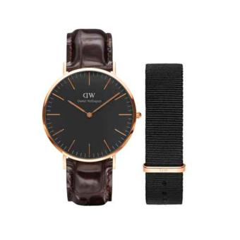 Daniel Wellington Classic Black York RG 40mm W/Cornwall Strap 20m