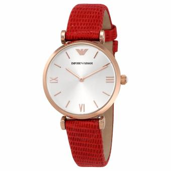 Harga Emporio Armani Classic Red Leather Ladies Watch AR1876