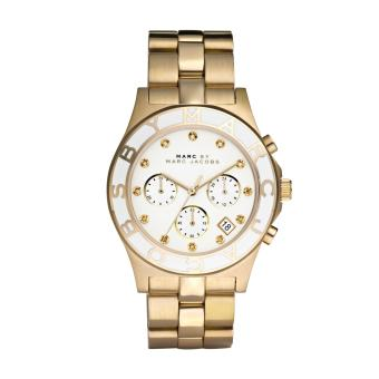 Harga Marc By Marc Jacobs Ladies Blade Chronograph Gold Watch MBM3081