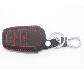 Harga Car leather Smart Key cover for TOYOTA 3 Button Smart Remote Key (EXPORT)