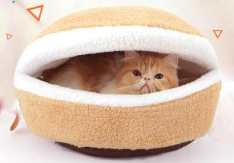 Harga Hamburger cat nest detachable windproof warm pet nest - intl