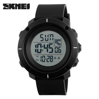 SKMEI Men Sports Watches Fashion Outdoor Wristwatches Military 50M Waterproof LED Digital Watch Clock - Black - intl