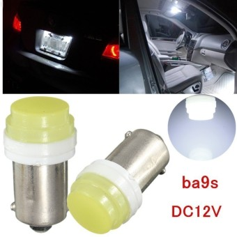 Harga Ba9s Ceramic COB LED T4W White Lights 1815 Car Bulb Lamp DC 12V - intl