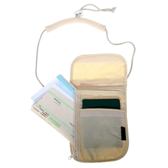 Portable Passport Document Travel Essential Bag Pouch Anti Theft Security Bag – White - 2