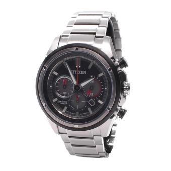 Harga Citizen Watch Eco-Drive Chronograph Silver Titanium Case Titanium Bracelet Mens Japan NWT + Warranty CA4241-55E