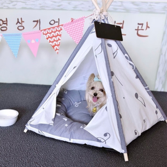 Harga 40 x 40 x 50cm Kennel Pet Nest Pet Dog Tent Dog Bed (Grey)