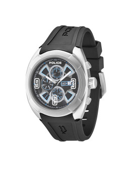 Harga Police SATURN Black Silicone Strap Watch