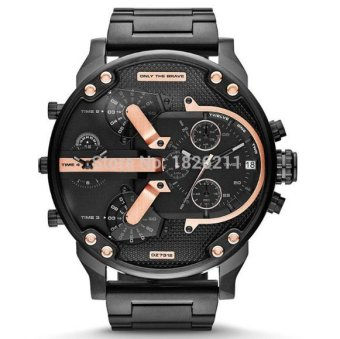 Harga 2016 New Men's Diesel Fashion Metal Strap Watch (Black0) - intl
