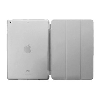 Harga Welink Detachable Tablet Smart Cover + Slim Transparent Back Case for Apple iPad Air 1 (Grey) (Intl)