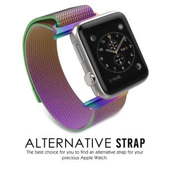 Milanese Magnetic Loop Stainless Steel Strap Watch Bands For Apple Watch iWatch 42mm (Colorful) - Intl - 3