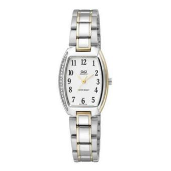 Harga Q&Q Q873J404Y By Citizen Two Tone Gold Stainless Steel Analog Lady Casual Watch