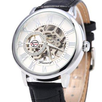 Forsining Men Auto Mechanical Leather Wrist Watch - 3