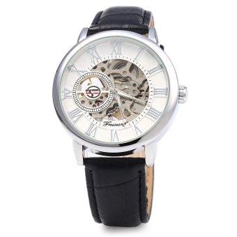 Forsining Men Auto Mechanical Leather Wrist Watch - 2