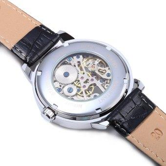 Forsining Men Auto Mechanical Leather Wrist Watch - 4