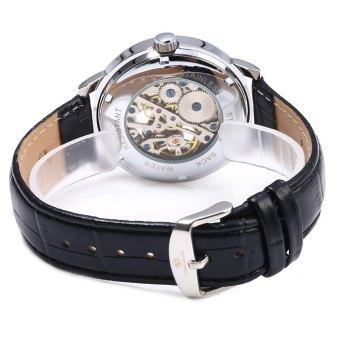 Forsining Men Auto Mechanical Leather Wrist Watch - 5