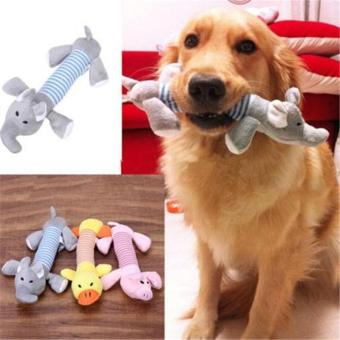 Harga New Pet Toy Squeaky Duck Elephant Dog Toys Puppy Chew Sound Plush Toys - intl