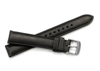 iStrap 20mm Genuine Calf Leather Watch Band Strap Steel Spring Bar Buckle Replacement Super Soft Clasp Black 20 - 5