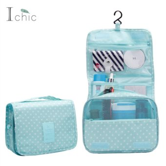 Ichic Hanging Toiletry Cosmetics Travel Bag Cosmetic Carry Case Travel Storage - intl