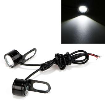 Harga 2Pcs/Set 12V Motorcycle Fog Lamp DRL Daytime Running Light Eagle Eye LED Reverse Backup Light - intl