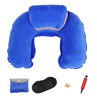 Harga Inflatable neck pillow picture pillow U-shaped pillow flocking travel pillow U neck pillow inflatable pillow