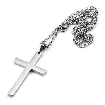 Sirius Jewelry Mens Fashion Gift Crucifix Cross Stainless Steel Pendant Necklaces with Gift Box - 2