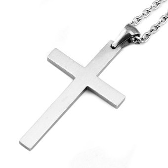 Sirius Jewelry Mens Fashion Gift Crucifix Cross Stainless Steel Pendant Necklaces with Gift Box - 3