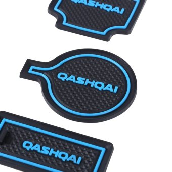 Harga 15pcs Auto Car Accessories Interior Door Rubber Non-slip Cup Mat Holder Gate Slot Pad for Qashqai - Intl